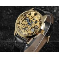 Quality Gold Dial Steel Mens Wrist Watches With Gold Case 30m water proof For Boy for sale
