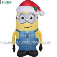 Wholesale Outdoor Christmas Minions Pop Inflatable Advertising Man With Santa Hat EN71 from china suppliers