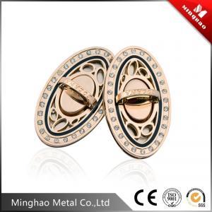 Quality 71.44*41.15mm Light gold oval handbag twist lock,metal bag twist lock for sale