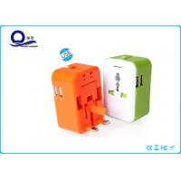 Wholesale 5V 2.4A Ipad / Ipod USB Double Port Power Adapter Plugs For Travelling / Business Trip from china suppliers