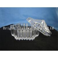 Wholesale hot-selling clear glass candy container with lid, fruit plate wholesale from china suppliers