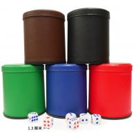Wholesale Leather Dice Cup With Mini Camera / Casino Magic Dice Inside See Through The Dice By Video Phone from china suppliers