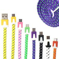 Wholesale Micro Braided USB Data Transfer Cable Ni plated for Smartphone from china suppliers
