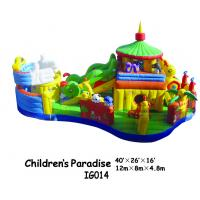 Wholesale Children / Kids Inflatable Bounce House With Caterpillar Slide Fire Retardant from china suppliers