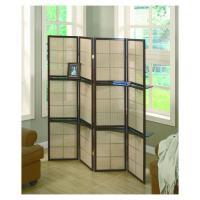 Wholesale 4 Panels Wooden Frame Bamboo Folding Movable Screens Room Divider from china suppliers