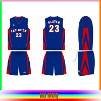 China Various Size Basketball League Jerseys Sublimation Logo Polyester Anti - Bacterial for sale