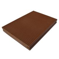 Wholesale Coffee Solid Core WPC Decking Floor Weather Resistance For Exterior Wall from china suppliers