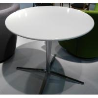 Wholesale White Wooden Round Coffee Table Contemporary Polished Steel Leg from china suppliers