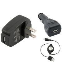 Wholesale 3-in-1 1Amp Micro Universal USB Charger Kit Black / White For HTC Cell Phone from china suppliers