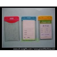 Wholesale Plastic vertical top-load color vinyl bussiness card holder with slot/chain holes from china suppliers