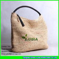 Wholesale LUDA new crochet sling shoulder bag macrame raffia straw beach handbag from china suppliers