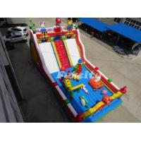 Wholesale 13L * 7W * 4 H M Mario Theme Inflatable Fun City With 0.55 Mm Pvc Tarpaulin from china suppliers