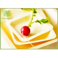 Wholesale Wooden Salad Plates Disposable Party Tableware , Safe Wooden Cake Plate For Kids from china suppliers