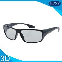 Quality PC Plastic Polarized Circular Passive 3D Glasses For Movies for sale