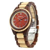 Wholesale 44 Mm Red Dial Ladies Wooden Watch , Custom Wood Watches Present from china suppliers