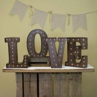 Wholesale Metal Vintage Letter Lights Love Marquee Sign For Wedding / Valentine's Day from china suppliers