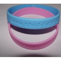 Buy cheap OEM logo debossed without filling color silicone wristband manufacturer from wholesalers