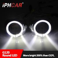 Iphcar new product high brightness light guide angel eyes 3.0 inch hid bi xenon projector lens for automotive motorcycle