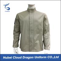 Wholesale Twill Fabric Khaki Military Tactical Jackets With Big Zipper , 100% Cotton Fabric Materials from china suppliers
