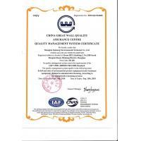 Shanghai Jiashang Environmental Technology Co., LTD Certifications