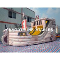 Wholesale Inflatable Pirate Ship Slide Inflatable Sports Games With Sewing / Stitching from china suppliers
