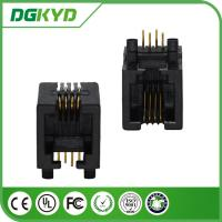 Wholesale Tab Down phone Jack 4P4C Network RJ11 Connector for phone switch from china suppliers