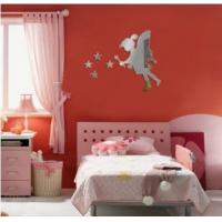 Wholesale Hot sale fairy with stars PS wall decal1MM thickness 3D mirror stickers stars home decor from china suppliers