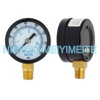 Quality CE Dry Air Manometer General Pressure Gauge Black Steel Case With Bezel for sale