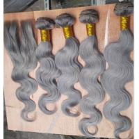 Buy cheap Mongolian Bouncy Body Wave Wholesale Products Gray Hair Colored Remy Hair from wholesalers