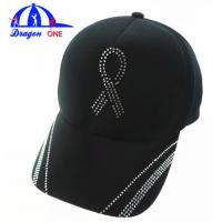 Wholesale Customs 5 Panel Cap Black Ottoman Cap , Crystal Logo Cap Oem from china suppliers