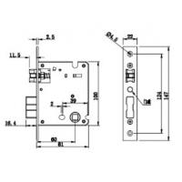 China Anti - Theft 6068 Lock Mortise Accessories For Door Lock for sale