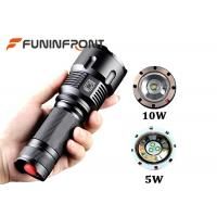 Wholesale White & Yellow & Blue Light Zoom LED Flashlight for Outdoor Camp, Hunt, Fishing from china suppliers