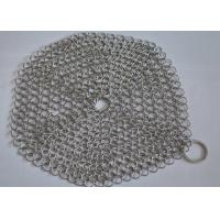 "Wholesale 4""*4"" Rectangle Chainmail Cast Iron Pan Scrubber For Clean Cookware , Food Grade from china suppliers"