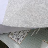 Wholesale white color 3D third dimension jacquard weave wallpaper background from china suppliers