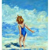 Wholesale Oil Painting-Beach Kid from china suppliers