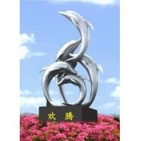 Wholesale Classic outdoor dolphin gardern stainless steel sculpture from china suppliers