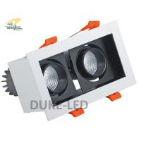 Wholesale Rectangular 36 Degree View 2*10W Double Down Lighting White Shell Retrofit Halogen AR111 from china suppliers