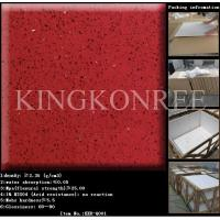 Wholesale Chinese Red Artificial Quartz Stone Tiles from china suppliers