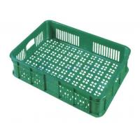 Wholesale OEM Eco - friendly Plastic Green Fruit and Vegetable Rack Stands Basket for Supermarket from china suppliers