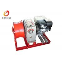Wholesale Gasoline Engine Gas Powered Winch , Take Up Machine Cable Pulling Winch from china suppliers