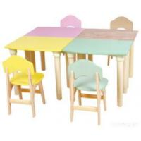 China Wooden Kids Student Desk And Chair on sale