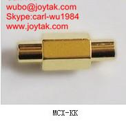 Wholesale High quality gold plated MCX jack to MCX jack coaxial adapter MCX-KK from china suppliers