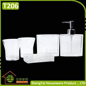 Wholesale Elegant European Design Popular White Transparent Bath Gift Set from china suppliers