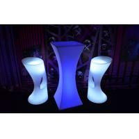 Wholesale Glow Plastic Led Cocktail Table Mutil Color Illuminated Outdoor Furniture For Nightclubs from china suppliers