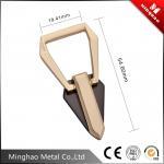 Good surface finished light gold zinc alloy metal bag buckle,handbag buckle19.41*54.60mm