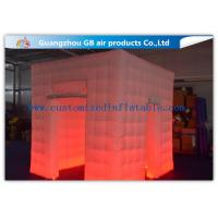 Wholesale Popular Oxford Material Square Inflatable Photo Booth Kiosk Tent With Led from china suppliers