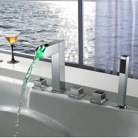 Wholesale Contemporary LED Waterfall with Hand Shower Tub Faucet, FY-1405-02 from china suppliers