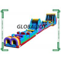 Buy cheap 40m Long Inflatable Beast Obstacle Course / Giant Inflatable Outdoor Playground from wholesalers