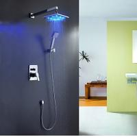 Wholesale LED Rain Shower Faucet (Shower Head+ Hand Shower), FL-1702-02 from china suppliers