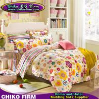 Wholesale Cartoon Flower Pigment Printed Twin Full Queen King Cotton Bed Sheets from china suppliers
